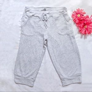 Calvin Klein heather gray cropped sweat pants
